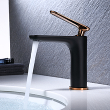 new basin faucet Black water tap Rose Gold sink faucet cold and hot copper bathroom tap chrome faucets china single holder brass vintage copper sink faucet water tap