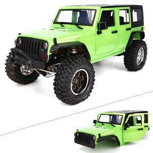Image 5 - Demonte 12.3 inç 313mm dingil mesafesi vücut araba kabuk için 1/10 RC paletli jeep Cherokee wrangler eksenel SCX10 ve SCX10 II 90046 90047
