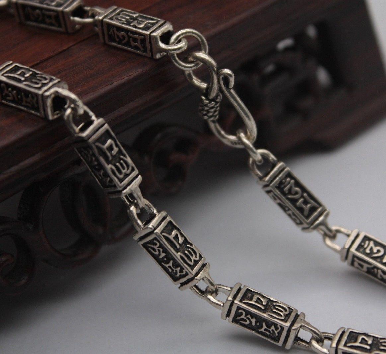 21.6 pouce pur 925 collier en argent Sterling 5mm carré lien chaîne collier S925