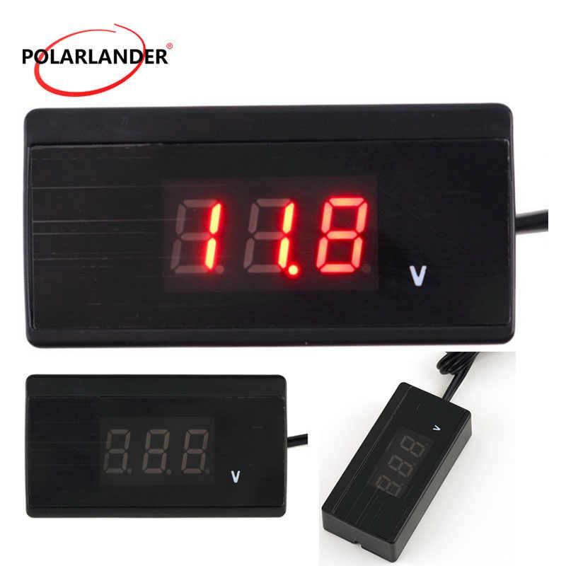 12 В 24 в автоматический термометр измеритель напряжения измеритель с дисплеем внешний датчик температуры мини цифровой автомобильный аккумулятор