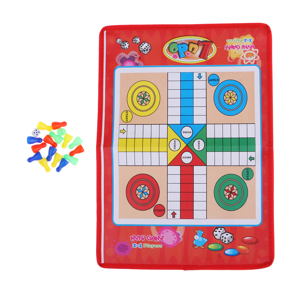 Traditional Flight Chess Board Game Ludo Chess Game Folding Chessboard Entertainment For Kid Children Boardgame Intelligence Toy