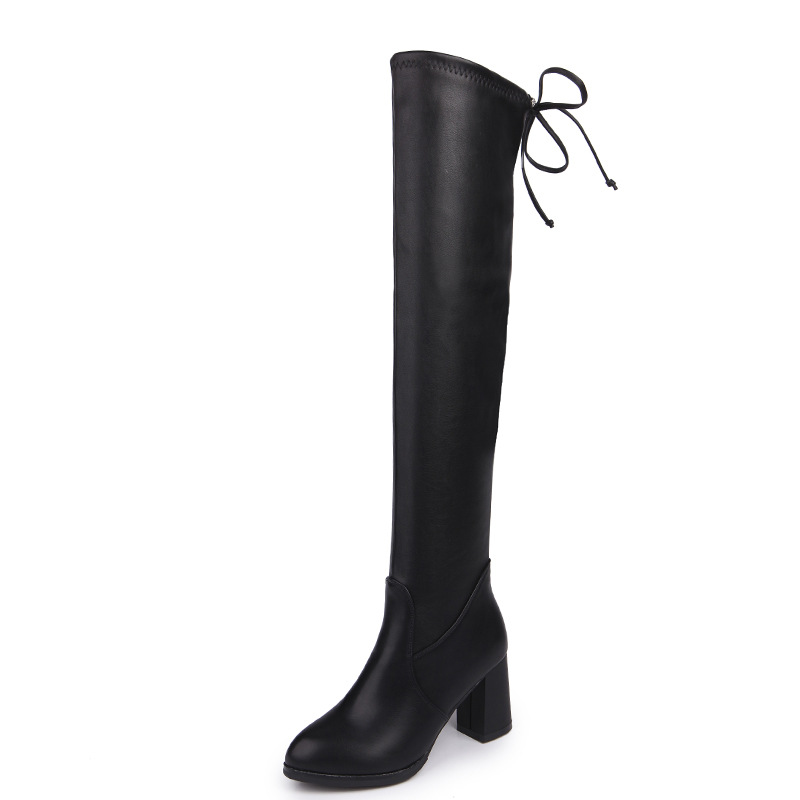 Boots Woman Overknee 2018 New Pattern Coarse With Women's Shoes Black In High Chalaza Long Boots Sexy Thin Elastic Force Boots