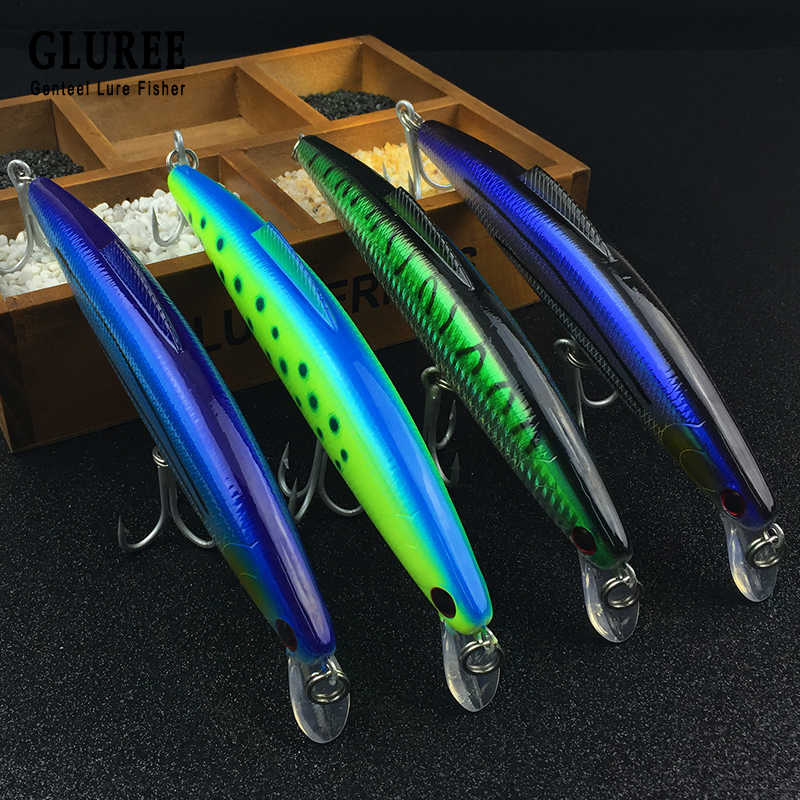 GLUREE Ciprinidi di Richiamo di Pesca 3D Occhio di Pesce Esche Artificiali Piegato Minow Esche Falso Esca 20 centimetri 96g Swimbait Crankbait attrezzatura da pesca