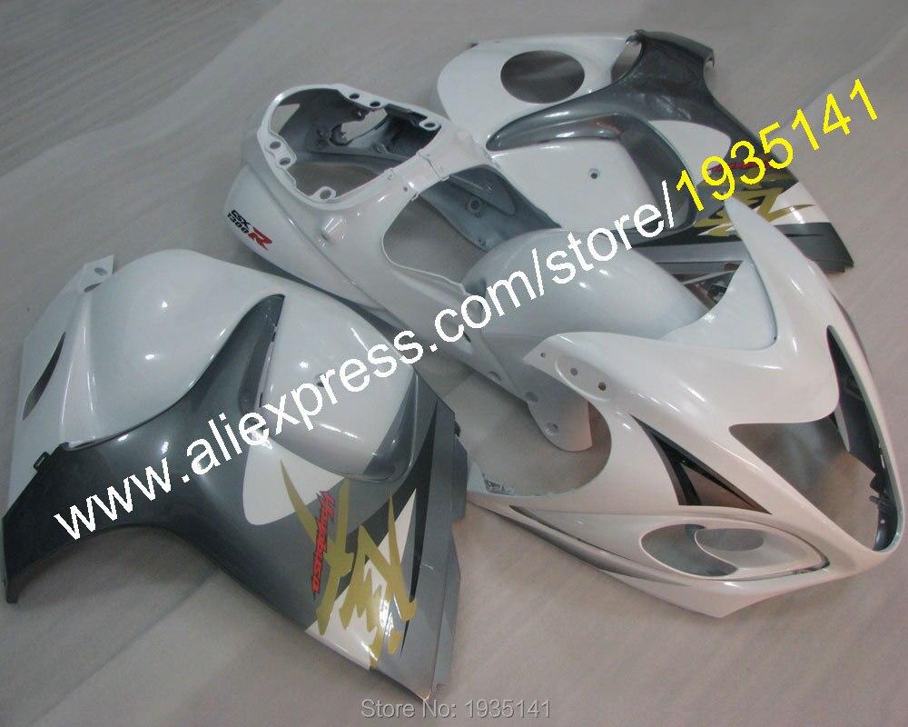 Hot Sales,For Suzuki Hayabusa GSX R1300 GSXR1300 2008 2013 GSXR 1300 White Grey Bodyworks Motorbike Fairing (Injection molding)