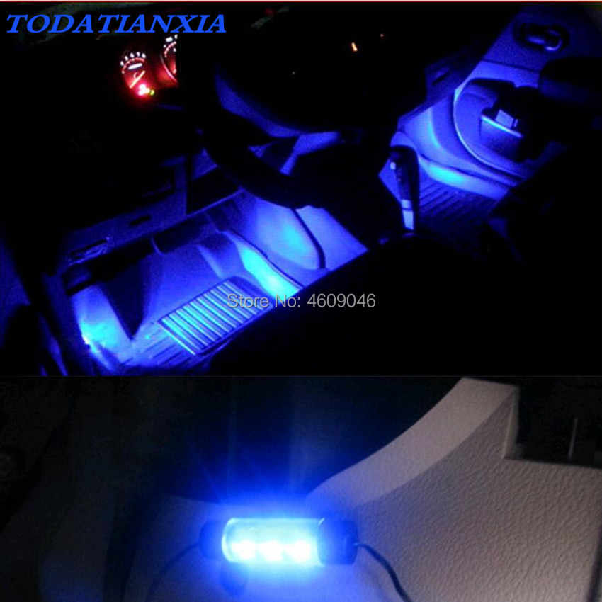 4x 3led luz do carro acessórios interiores para toyota c-hr mercedes w204 w211 assento ateca leon mk3 opel corsa astra j mokka amg