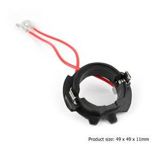 Image 5 - Vodool 2 pçs h7 carro led farol lâmpada base titular adaptador retentor clipe soquete para vw golf 5 mk5 jetta farol lâmpada acessórios