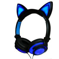 Cat Ears Gaming Headphone Rechargeable Foldable Cat Ears Stereo Surround Noise Reduction Music Headset Lighting Cat Ear Earphone