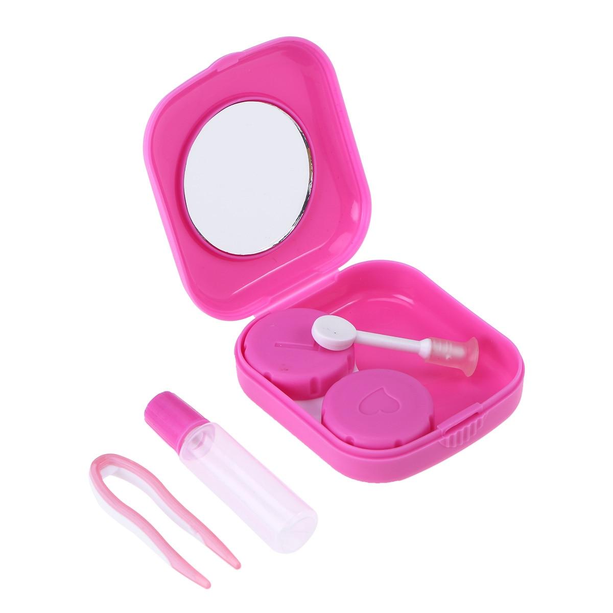 1 Pc Candy-farbige Kontaktlinsen Fall Waschbar Tragbare Einfache Mini Kunststoff Kontaktlinsen Schönheit Pflege Box Begleiter Box