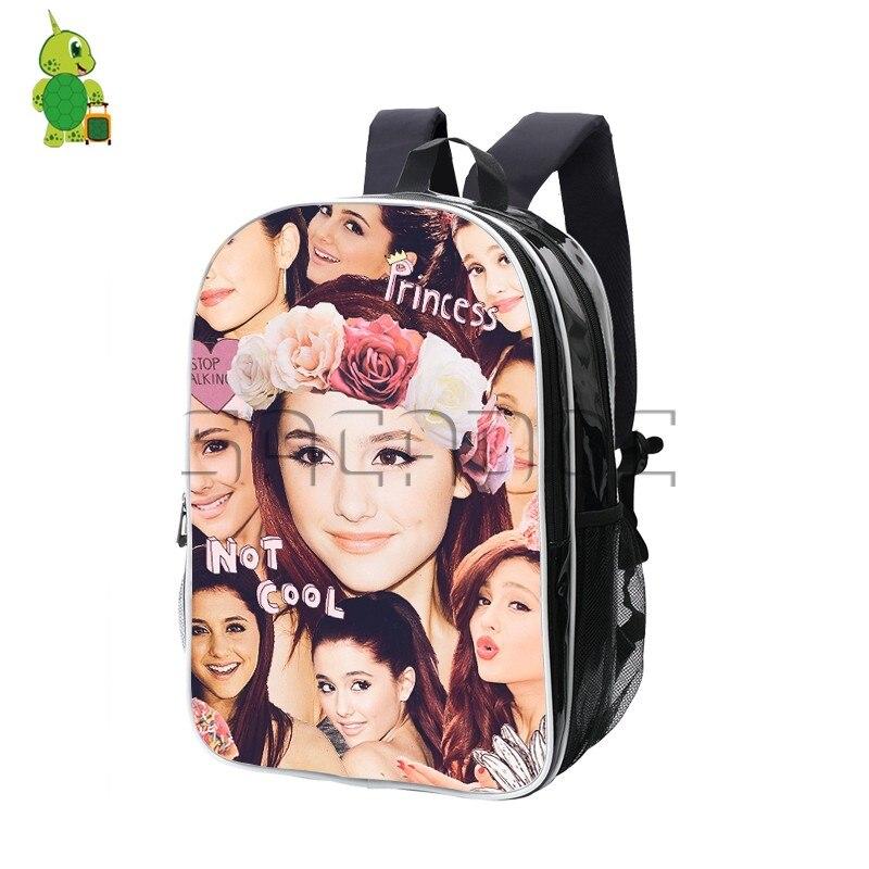 Pop Ariana Grande superposition femmes hommes sac à dos célèbre Star PU cuir sacs d'école pour les étudiants de l'école secondaire mode voyage sac à dos