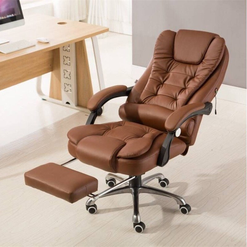 Купить с кэшбэком Office Boss Chairs Lazy Massage Swivel Chair Reclining Lifted Rotation Chair with Footrest Computer Chair Comfortable