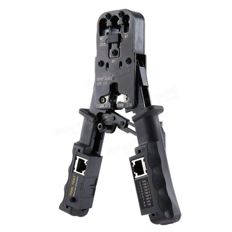 2 ב 1 כבל רשת חשפנית מלחץ כלי בודק LAN Ethernet RJ45/RJ11/RJ9 6 p דצמבר 4 p 8 p Crimping צבת נשלף חיתוך פלייר