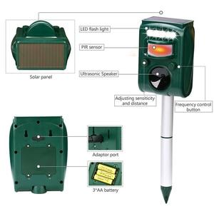 Image 4 - Outdoor Garden Solar Ultra Sound Outdoor Animal Repeller Motion Sensor Flash Light Bird Dog Cat Raccoon Rabbit Animal Dispeller