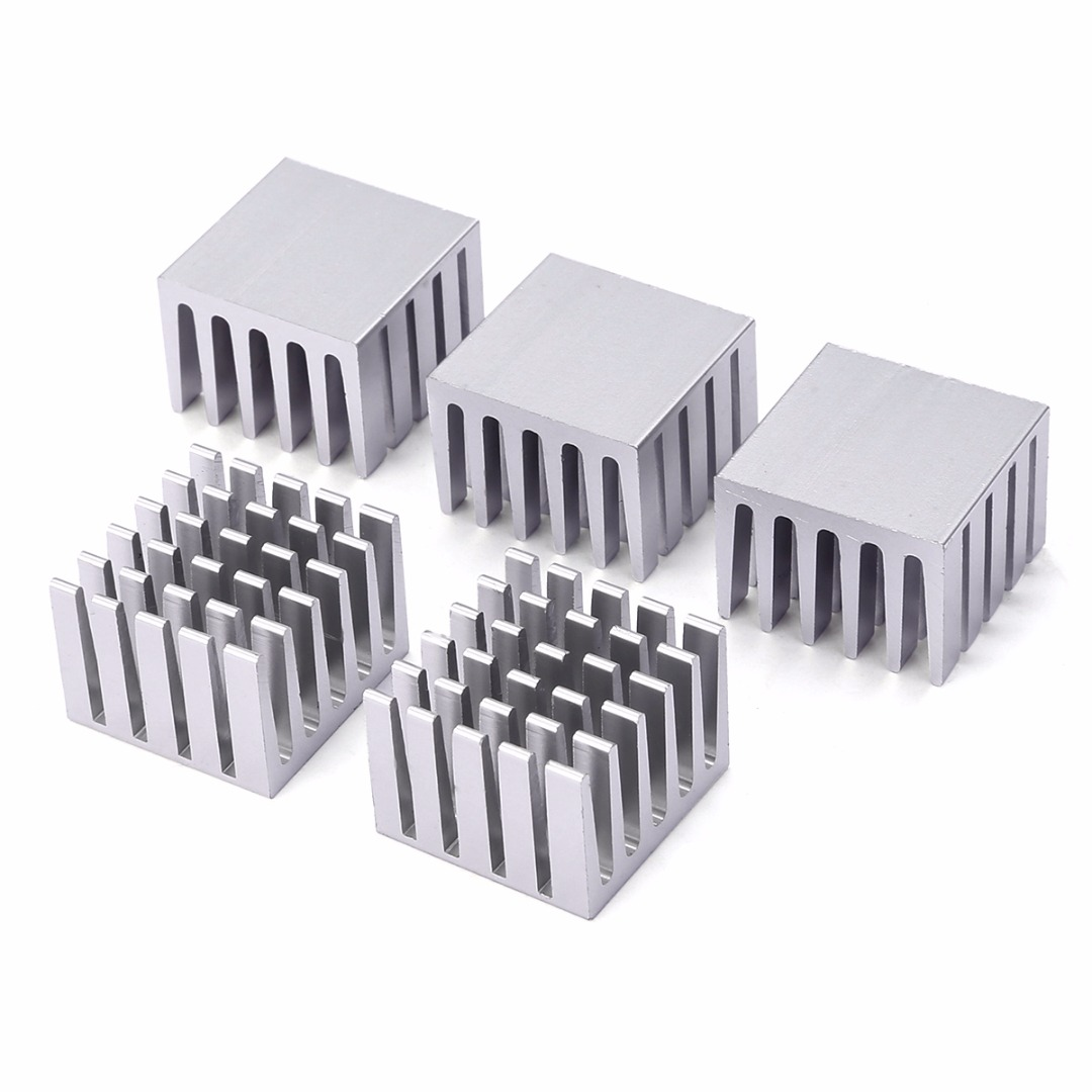 5pcs 20x20x15mm CPU IC Chip Aluminum Heat Sink DIY Extruded Cooler Heatsink Cooling Accessories for electronical  facilities