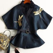 GETSRING Women Kimono Outerwear 2019 Embroidery Beads Bat Sleeves Coats Formal