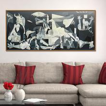 Spain France Picasso Guernica 1937 Germany Figure Painting Abstract drawing Spray Oil Painting Frameless Home decor Canvas oppler picasso s guernica cloth
