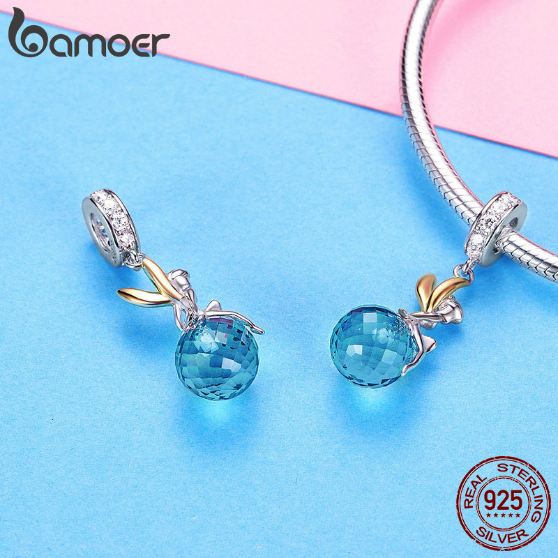 BAMOER Authentic 925 Sterling Silver Elf Planet Blue Zircon Pendant Charms fit Original Necklaces Bangles Jewelry BAMOER Authentic 925 Sterling Silver Elf Planet Blue Zircon Pendant Charms fit Original Necklaces & Bangles Jewelry Gift BSC056