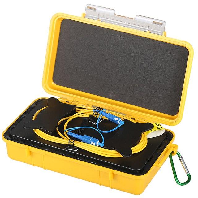 Frete grátis sc/UPC SC/upc otdr zona morta eliminador, anéis de fibra, fibra óptica otdr lançamento caixa cabo 500 m 1 km 2 km sm 1310/1550nm