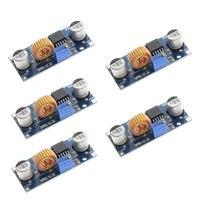 5 pces 5a xl4015 dc 4 38 v a 1.25 36 v 24 v 12 v 9 v 5 v step down ajustável módulo de fonte de alimentação led carregador de lítio com calor si Acessórios para baterias     -
