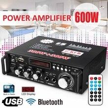 12V 220V 2CH 600W ЖК-дисплей Дисплей цифровой Hi-Fi аудио Мощность усилитель bluetooth FM радио автомобиля сабвуфер стерео W/Дистанционное Управление