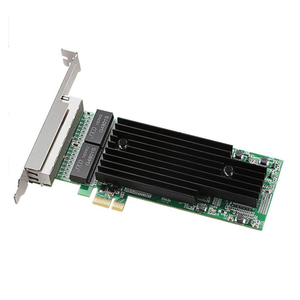 Intel 82575-T4 4 ports 1000 Mbps Gigabit Ethernet 10/100/1000 M PCI-E carte réseau PCI Express RJ45 adaptateur LAN pour ordinateur de bureau