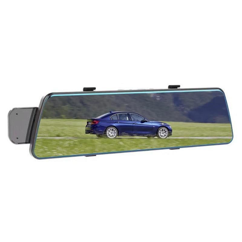 V5 Car DVR Camera 9.35 Inch IPS Touch Screen 1080P Rearview Mirror Video Recorder Dual Lens Night Vision G-sensor ADAS Dash Cam цена