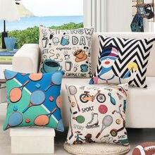 HGLEGYW чехол для ракетки диванная подушка хлопковое постельное бельё подушка для тенниса домашняя наволочка