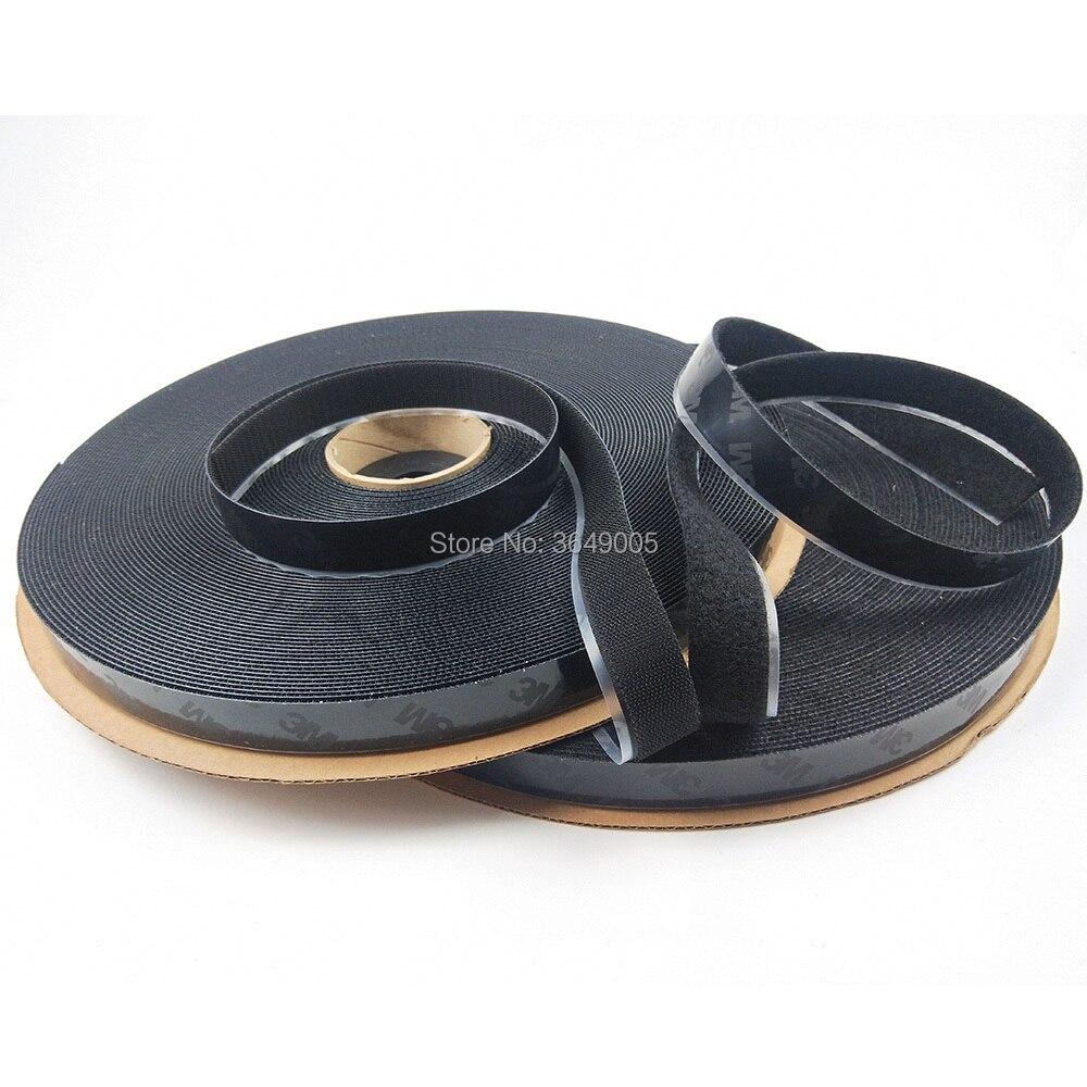 25.4mm x 45.7 m autocollant magique crochet et boucle Double face forte auto-Nylon ruban adhésif bouton pression outils de couture
