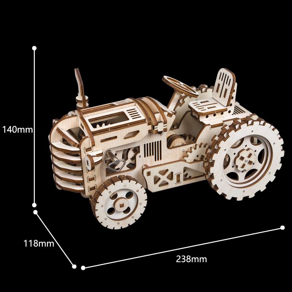 Robotime bricolage créatif engins d'entraînement tracteur 3D en bois modèle construction Kits jouets loisirs cadeau pour enfants adulte LK401 - 3