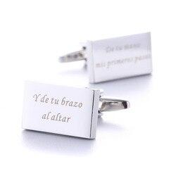 Пользовательские Запонки Свадебные подарки персонализированные запонки для мужской рубашки Щепка индивидуальные гравированная запонка Д...