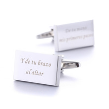 Custom Cufflinks Wedding Gifts Personalized Mens Shirt Sliver Customized Engraved Cufflink Men Gemelos Name Jewelry