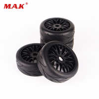 RC 4Pcs 17mm Hex 1:8 Buggy Tyres for HPI HSP Car Tires & Wheel Rim Kit Accessory