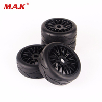 RC 4Pcs 17mm Hex 1:8 Buggy Tyres for HPI HSP Traxxas Car Tires & Wheel Rim Kit Accessory
