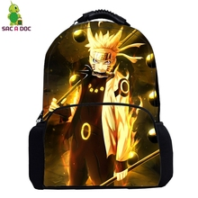 Anime Naruto Backapck Naruto Sasuke School Bags for Teenage