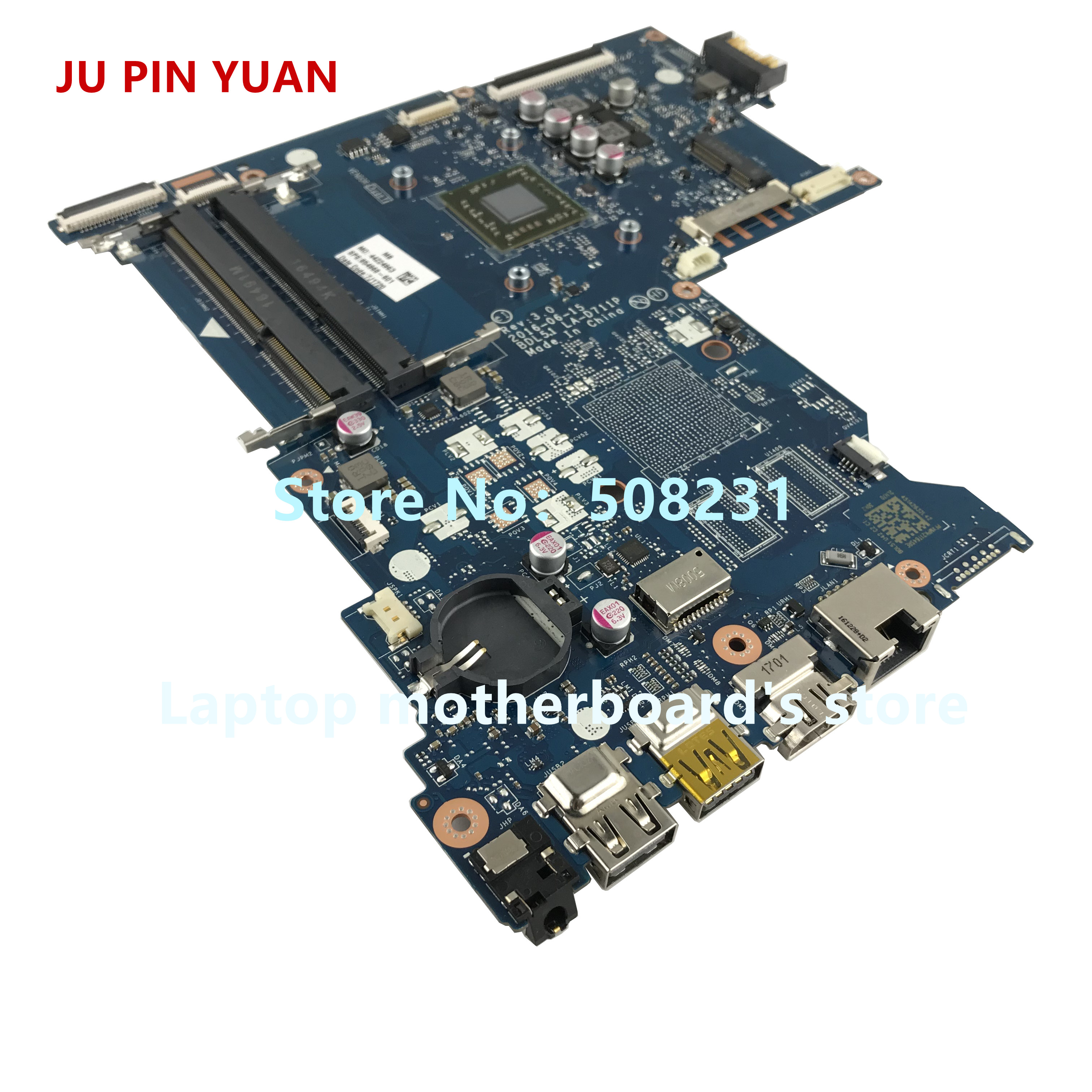 Image 3 - JU PIN YUAN 854968 001 mainboard 854968 601 for HP NOTEBOOK 15 BA 15Z BA 15 ba060nf laptop motherboard  BDL51 LA D711P E2 7110-in Laptop Motherboard from Computer & Office on