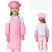 b135f0e4507 2 unids/set niños Chef Set completo niños cocina regalo juego con el Chef y  tapa delantal para cocinar hornear decoración fiesta