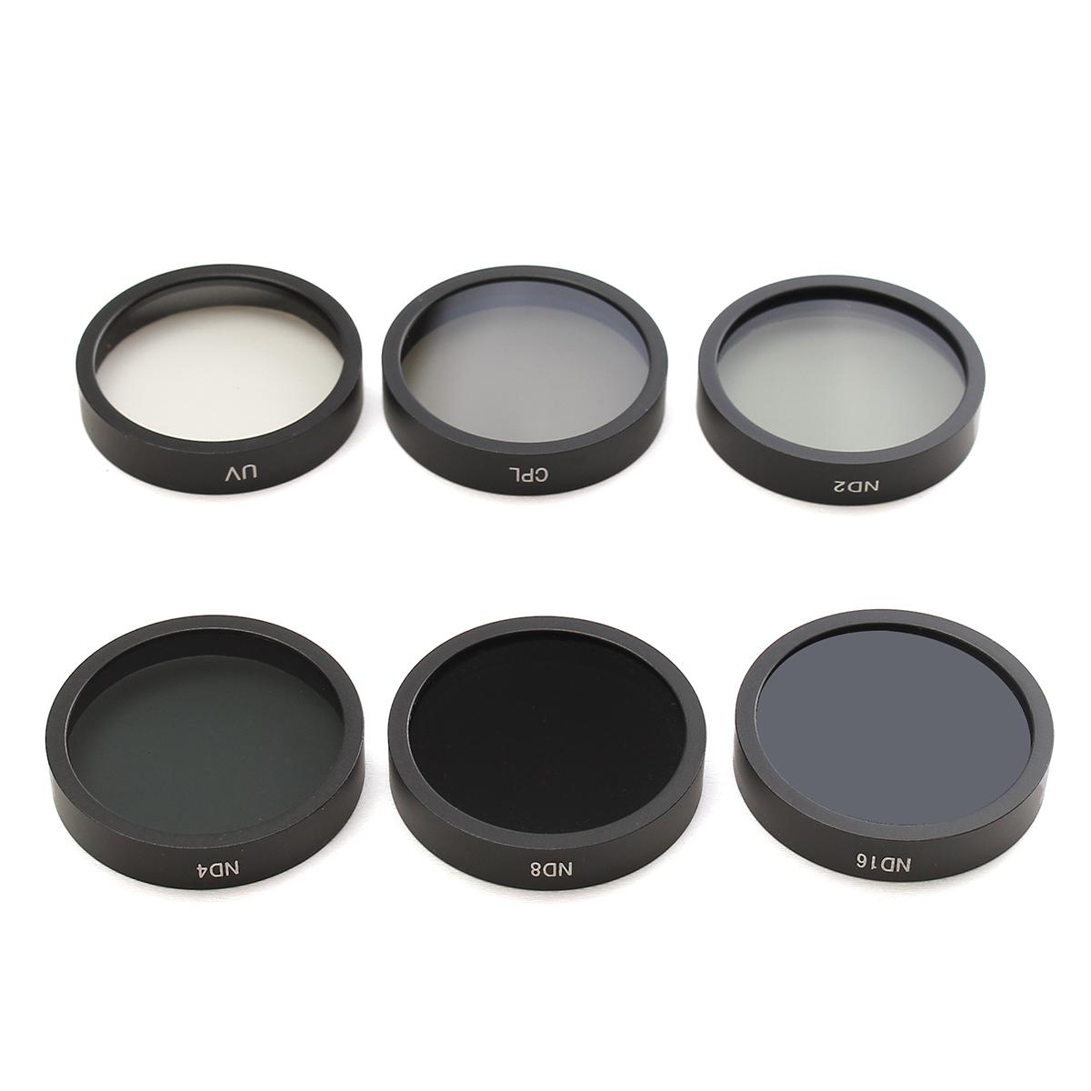 6 pz ND2 ND4 ND8 ND16 CPL UV Macchina Fotografica Lens Filtri Con Il Caso Per DJI Phantom 4/3 HD
