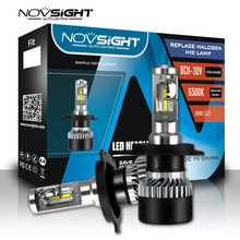 Super Bright car headlight h4 led bulbs Novsight All in one led Auto lamp 70W 10000LM 6000K white H4 Hi/Lo Automobiles Headlamp(China)
