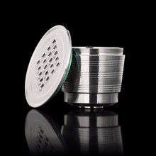 2019 NEW Refillable Upgrade Square Hole Nespresso Stainless Steel Empty Capsules Metal Reusable Coffee Filter Cup Cafe Drippers