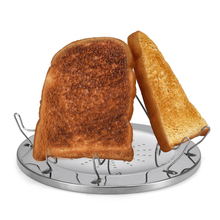 4 Slice Outdoor Portable Stainless Steel Folding Camping Stove Toaster Bread Rack Cooking Camping Breakfast Cookware