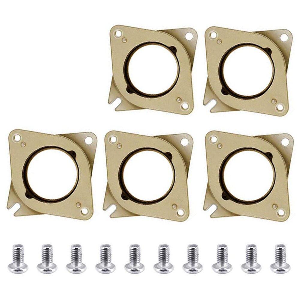 5 piezas NEMA 17 Motor paso a paso de caucho y acero amortiguadores de vibraciones con 10 piezas M3 tornillo para Creality CR-10... 10 S 3D impresora CNC Router