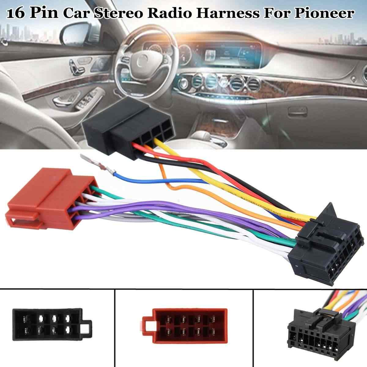medium resolution of 16 pin car stereo radio player iso wiring harness connector for pioneer 2003 on