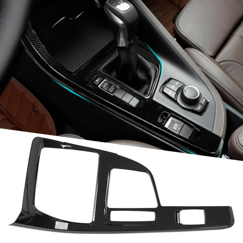Carbon Fiber Style ABS Updated Car Styling Gear Shift Panel Cover Trim For BMW X1 F48 2016 2017 2018 2019