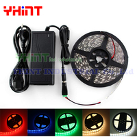 1 set 5 meters DC12V 5A SMD5050 IP65/IP20 Waterproof Red,Blue,Green Yellow,White,Warm white Single color 60 LED/M LED strip