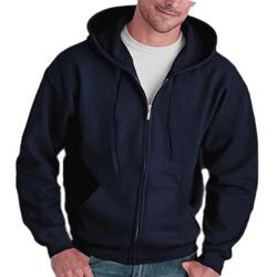 Men Full Zip Long Sleeved Hooded Sweatshirt Fashion Pure Color Autumn Winter All-match Clothes Coat Top Hoodies Men 2