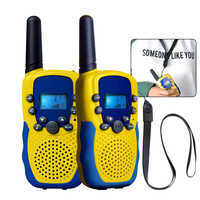 2Pcs/Lot Children Outdoor Electronic Interphone Novelty Kids Toys Watch Walkie-talkie Intercom Gifts Toy(Europe Frequency)