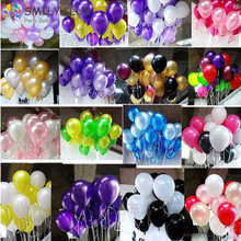 100 pcs Thicken 10 Inch 1.8g Birthday/Wedding Supply Latex Balloons Colorful Party Latex Air Baloon/Ballon Kids Inflatable Toy