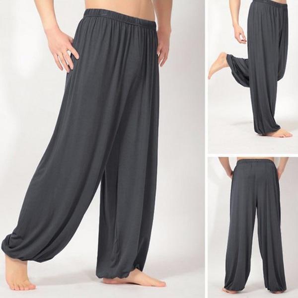 Men's Harem Pants Cotton Linen Festival Baggy Trousers Retro Gypsy Pants 2018 new Cotton Linen Work Drop-Crotch Long Trouse 1
