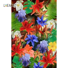 Laeacco Colorful Flowers Backdrop Wedding Portrait Photography Backgrounds Customized Photographic Backdrops For Photo Studio 10x10ft 3x3m scenic muslin backgrounds photography photo studio backdrops hand painted flower muslin backdrop wedding