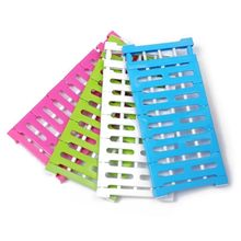 Wardrobe Partition Storage Rack Cabinets Holder Organizers Nail Free Telescopic Spacer Frame Clothes Rack Kitchen Shelf supply diy variety creative magic film storage cabinets free combination frame