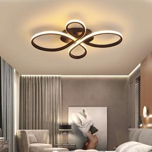 Image 5 - Новый Популярный светильник NEO Gleam с регулируемой яркостью для гостиной, спальни, кабинета, белого/кофейного цвета, потолочные светильники